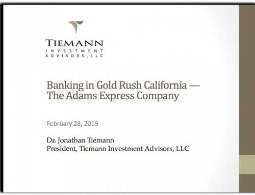 The Adams Express Company – A Gold Rush Banking story