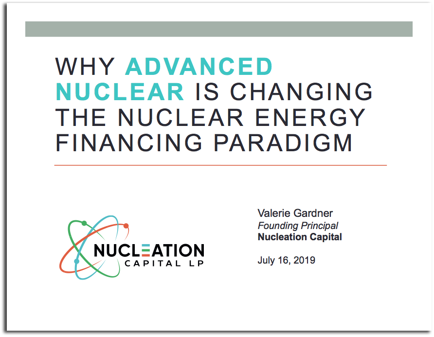 The changing finance paradigm for Advanced Nuclear